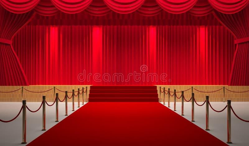 Teatru pokój ilustracji