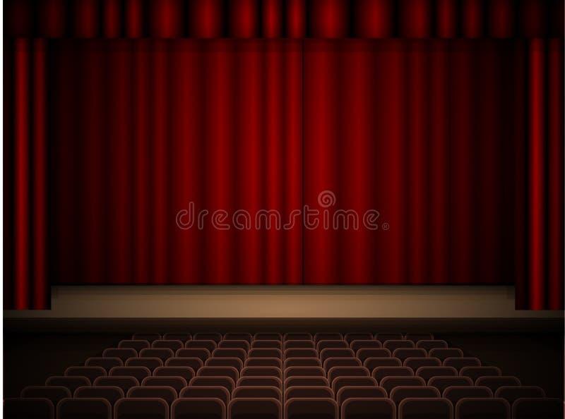 Teatru wnętrze ilustracji