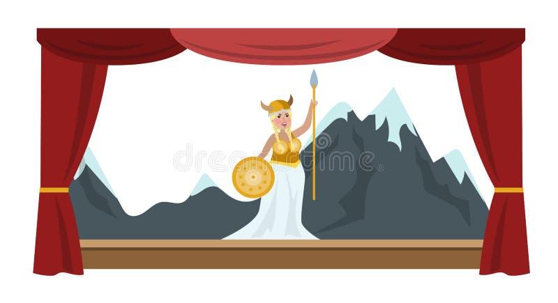 Teatru występu przedstawienie ilustracja wektor