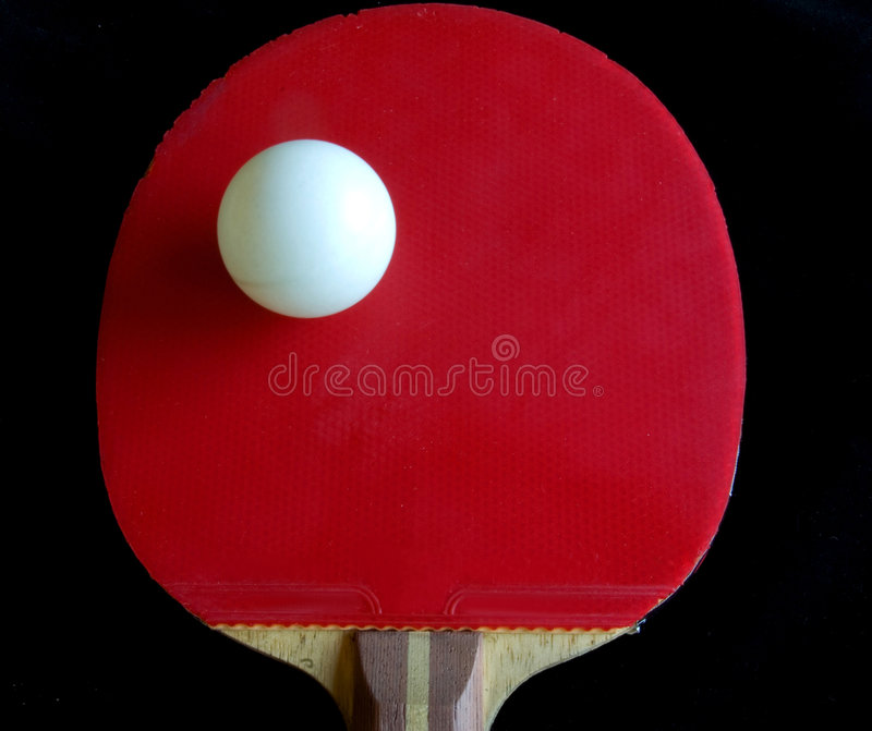Teble tennis racket bat and ball stock images