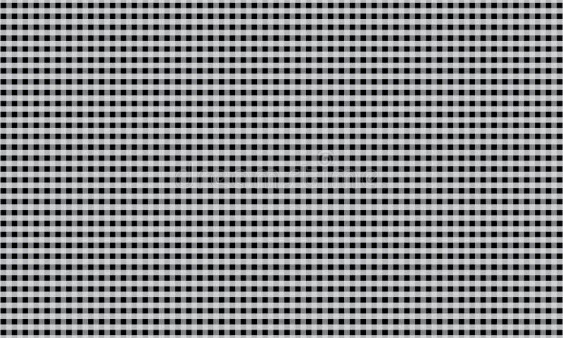 Teblechloth in bianco e nero del modello del percalle Illustrazione di vettore illustrazione di stock