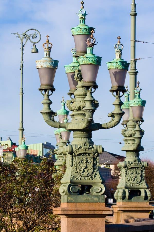 teborg улицы светильников g стоковая фотография rf