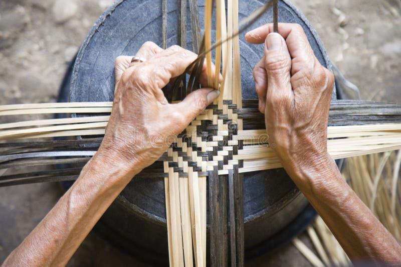 Tecelagem de bambu foto de stock royalty free
