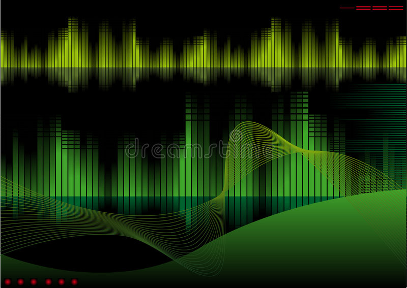Tech. Abstract vector illustration of a high-tech background