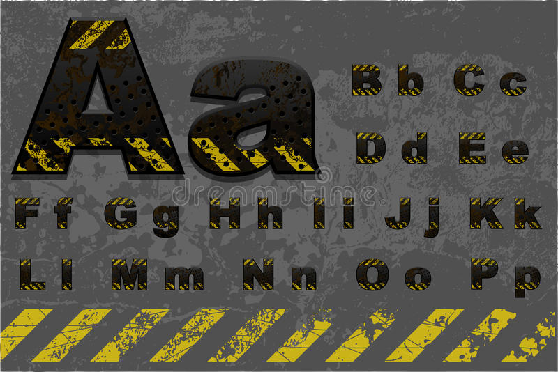 Tech alphabet (part 1 of 2) vector illustration