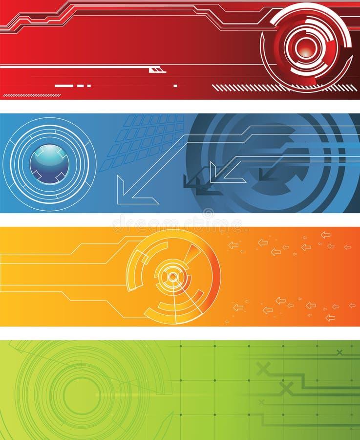 Tech banner royalty free illustration