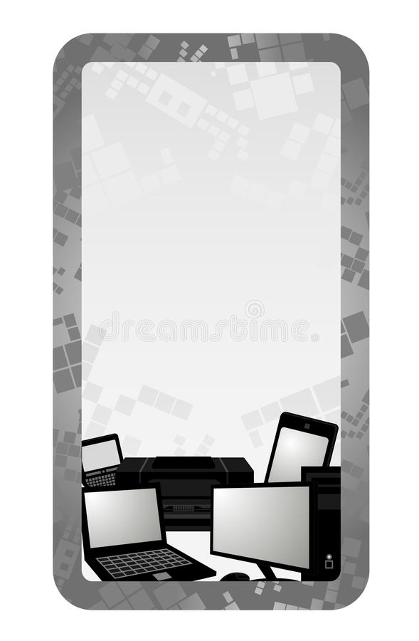Download Tech card stock vector. Image of illustration, composition - 21997101