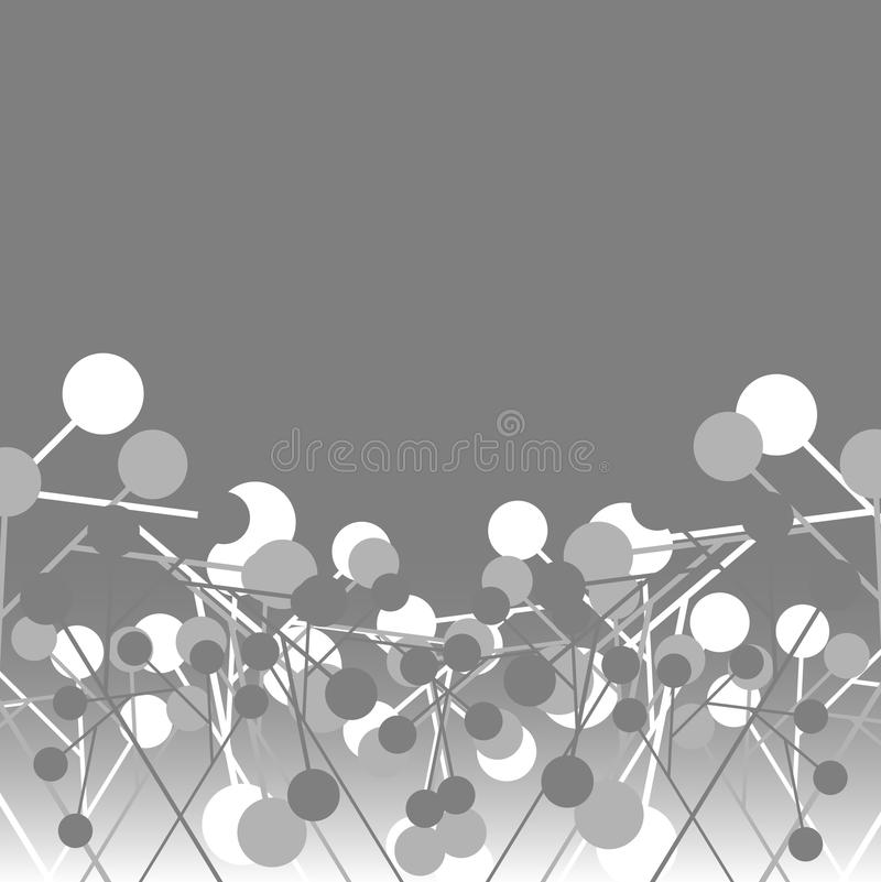Tech circles vector illustration