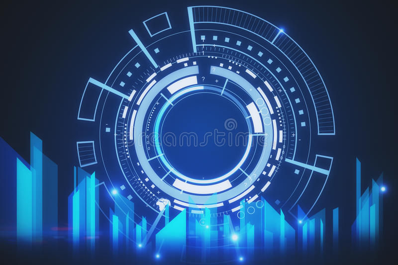 Tech concept stock illustration