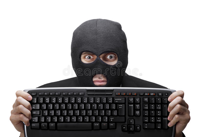 Tech criminal royalty free stock image
