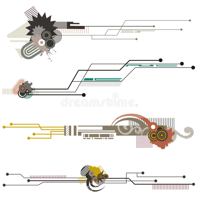 Tech design elements series vector illustration