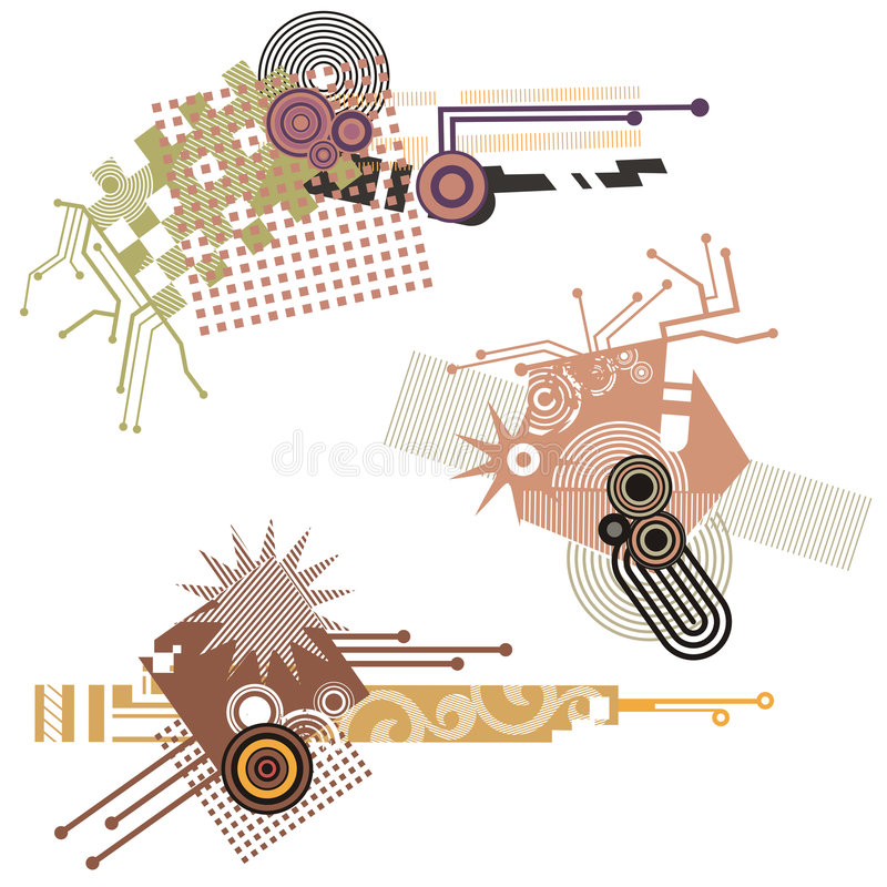 Tech design elements series stock illustration