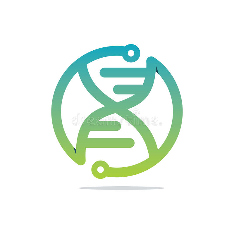 Tech DNA. Modern and sophisticated DNA icon royalty free illustration