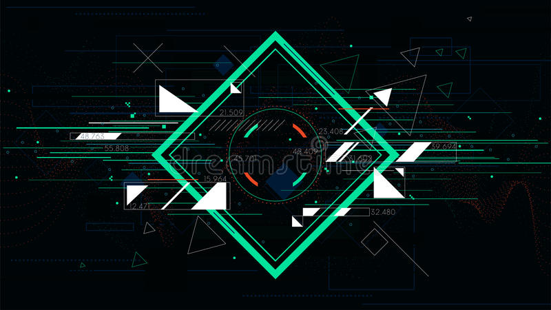Tech futuristic abstract backgrounds, colorful square royalty free illustration