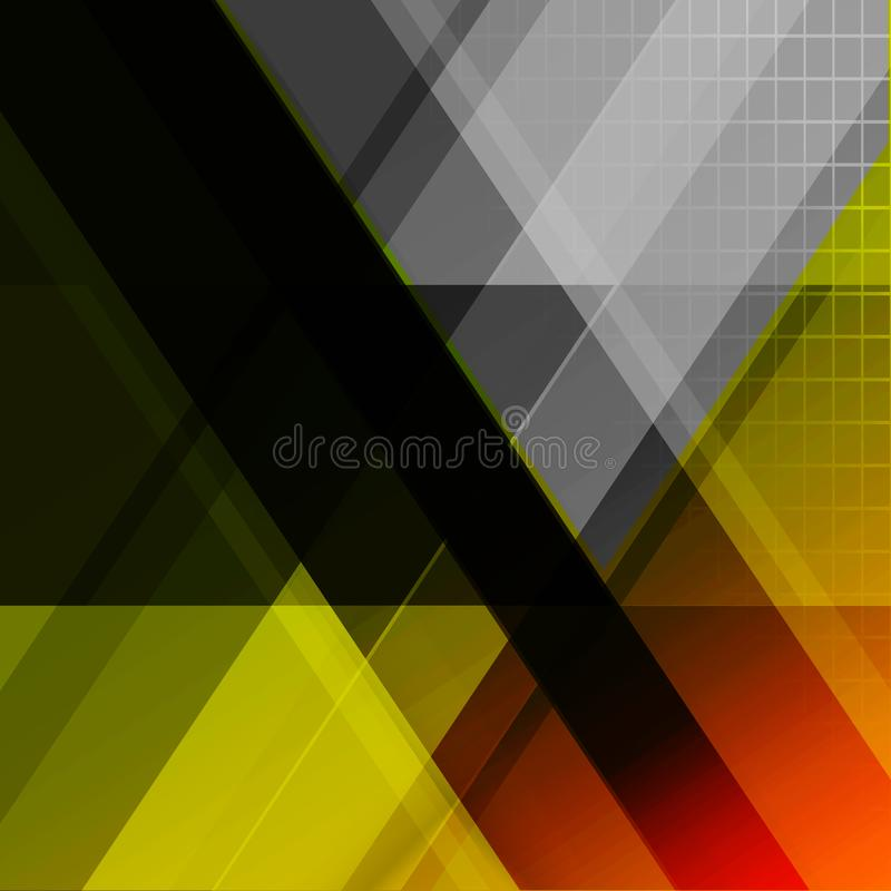 Tech futuristic abstract backgrounds, colorful triangle stock illustration
