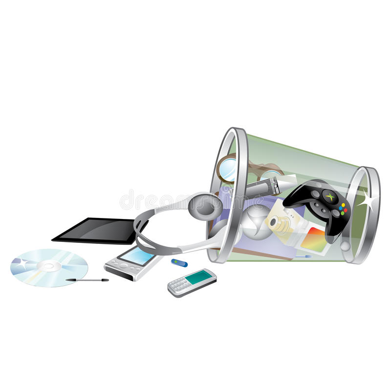 Tech gadgets royalty free illustration