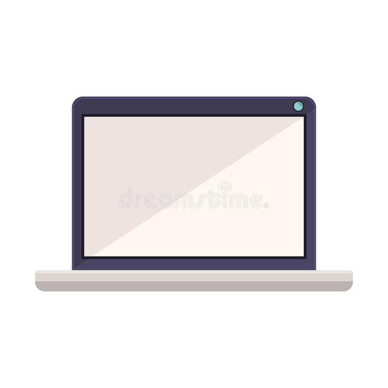 tech laptop screen with keyboard minimalist stock vector