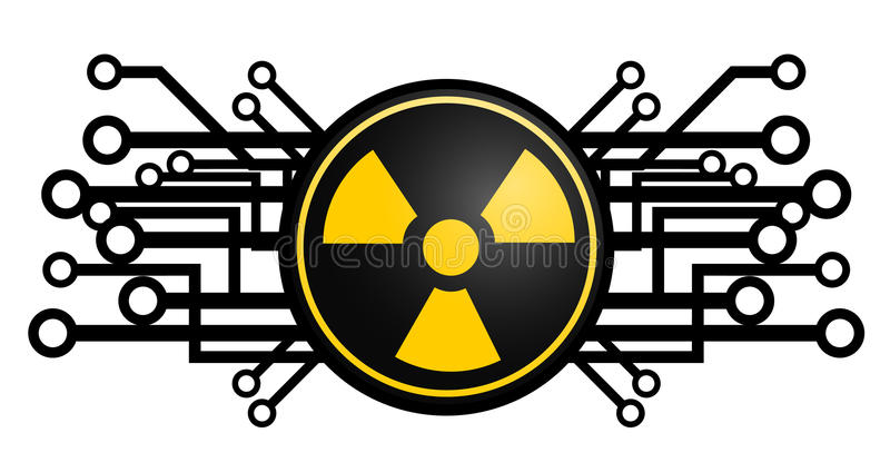 Tech radioactive icon vector illustration