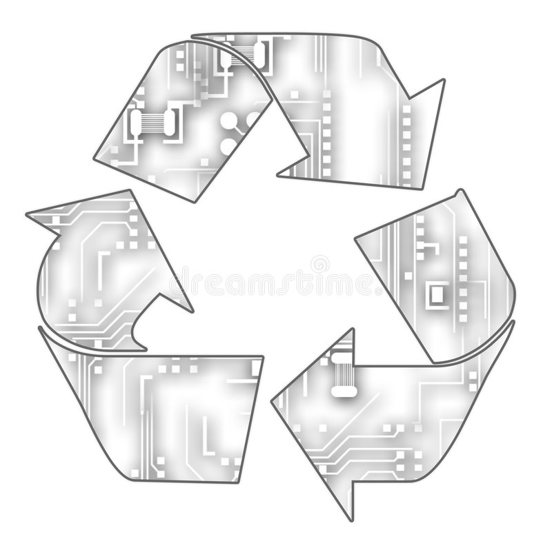 Tech Recycling royalty free stock image