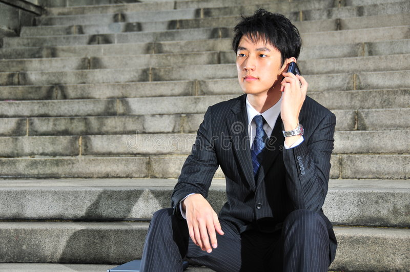 Tech Savvy Asian Executive 17 royalty free stock image