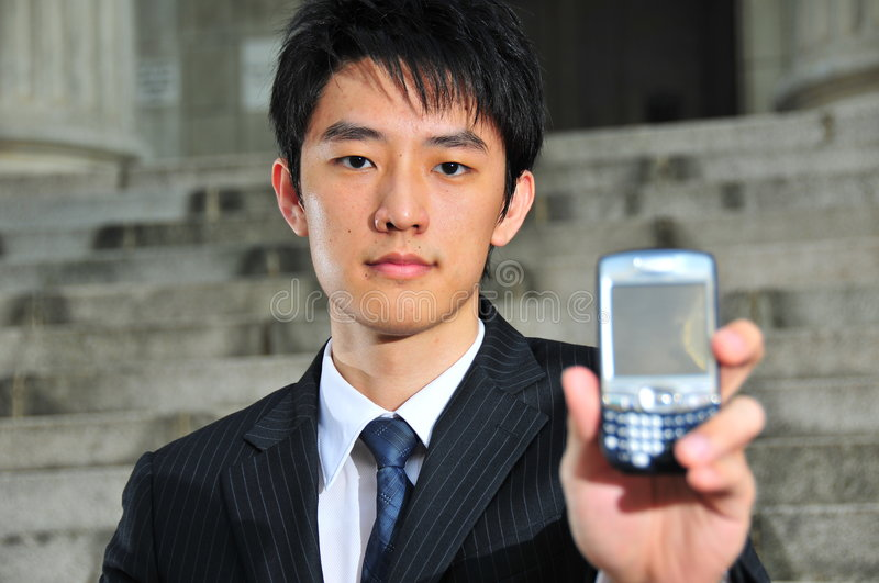 Tech Savvy Asian Executive 18 stock photo