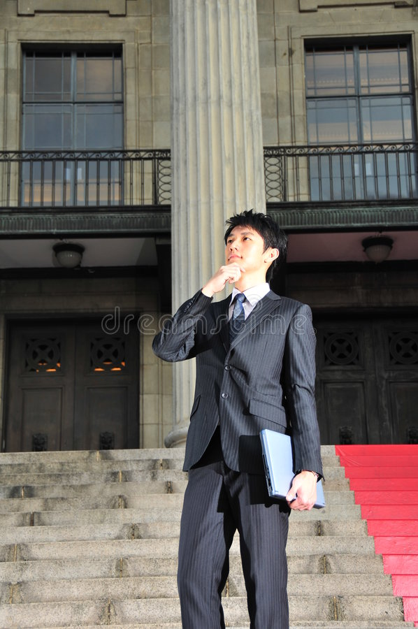 Tech Savvy Asian Executive 7 Royalty Free Stock Photo