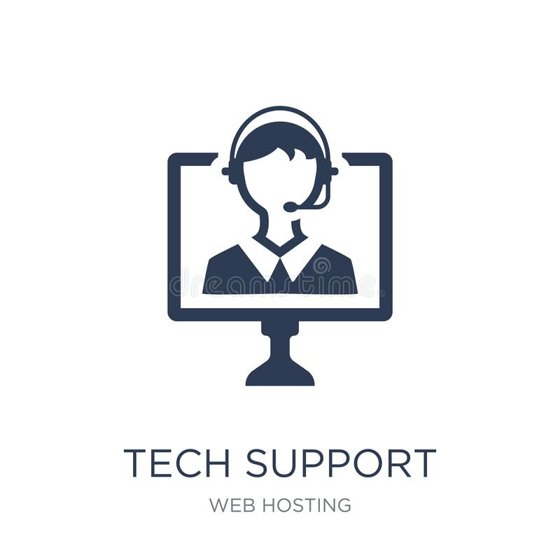 Tech support icon. Trendy flat vector Tech support icon on white vector illustration