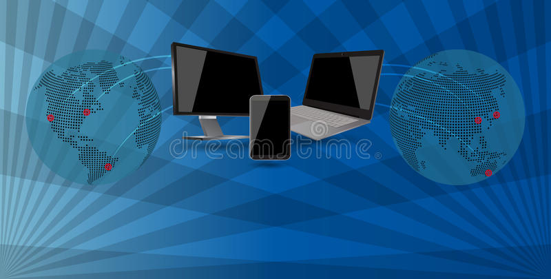 Tech world stock illustration