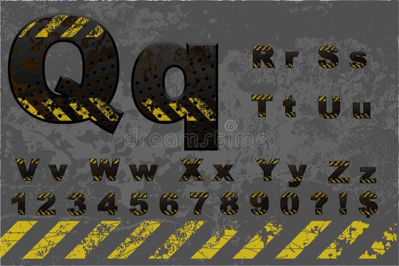 Techalfabet (del 2 av 2) royaltyfri illustrationer