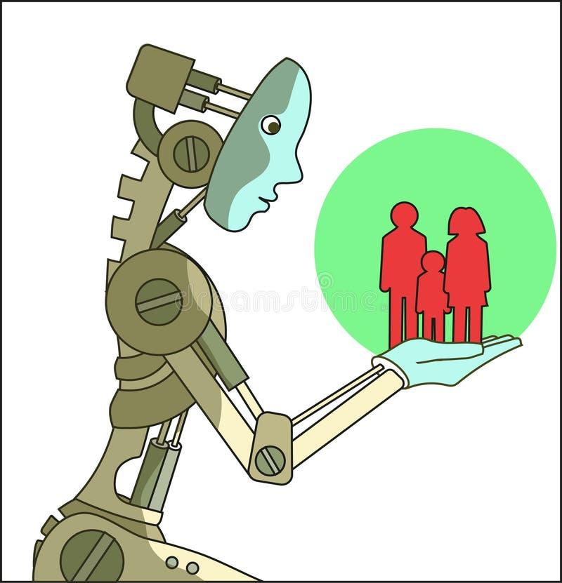 Techmen per gli esseri umani illustrazione di stock