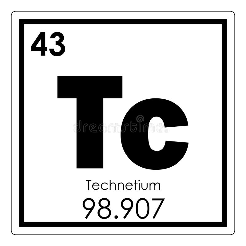 Technetium chemical element royalty free illustration
