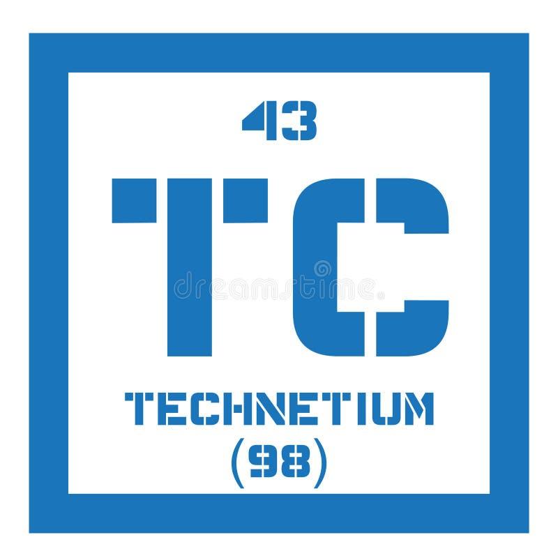 Technetium chemisch element stock illustratie