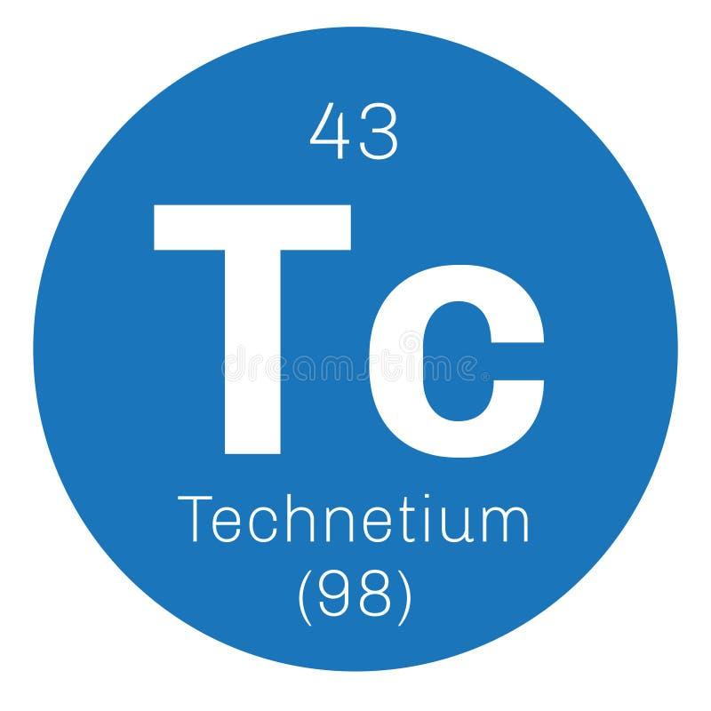 Technetium chemisch element royalty-vrije illustratie