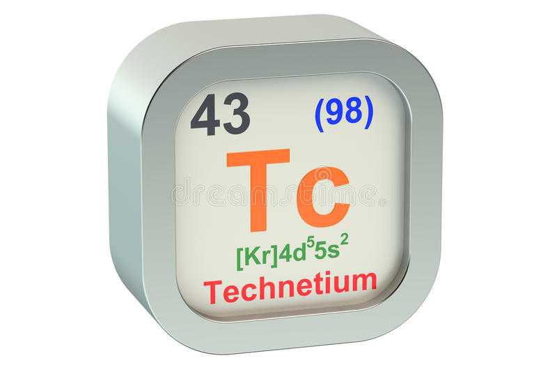 Technetium 3d stock illustration