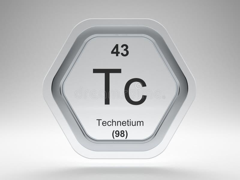Technetium symbol hexagon frame vector illustration