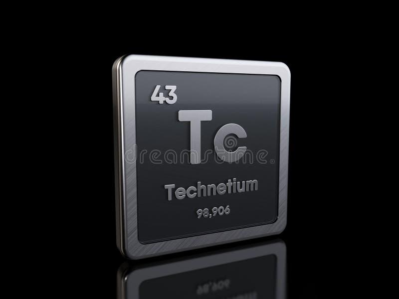 Technetium Tc, element symbol from periodic table series vector illustration