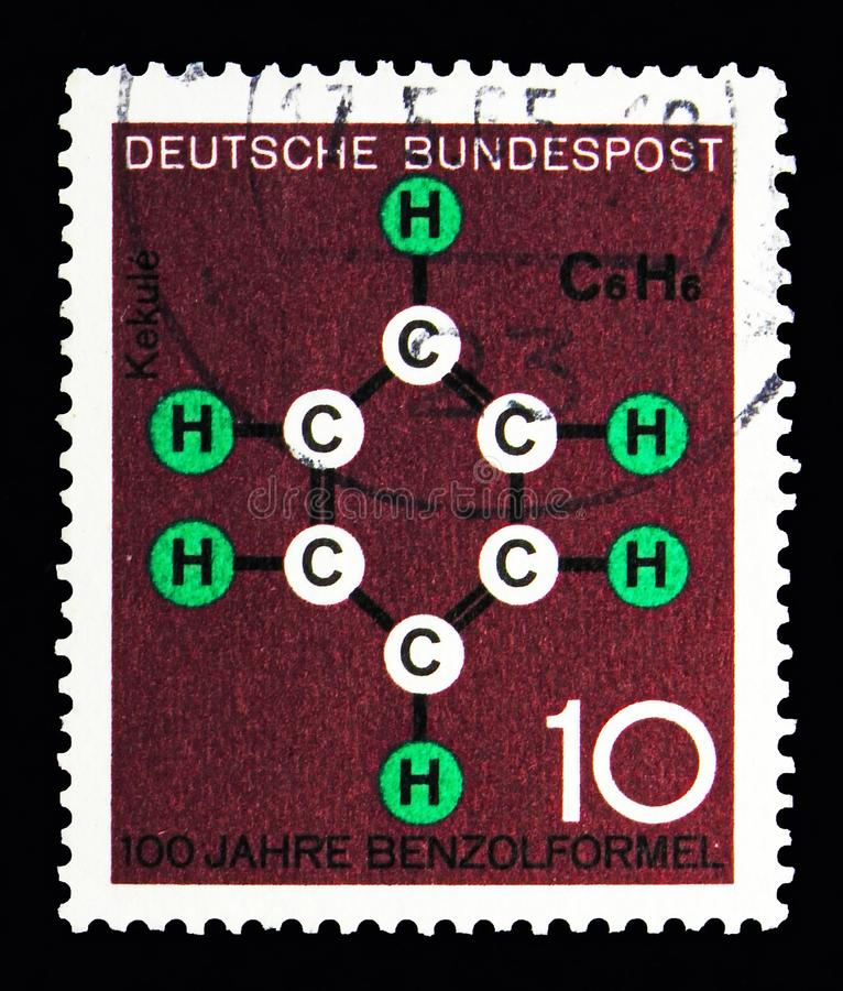 Technic and science, Scientific Anniversaries (1st series) serie. MOSCOW, RUSSIA - MAY 13, 2018: A stamp printed in Federal Republic of Germany shows royalty free stock photography