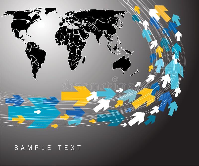 Technical background stock illustration
