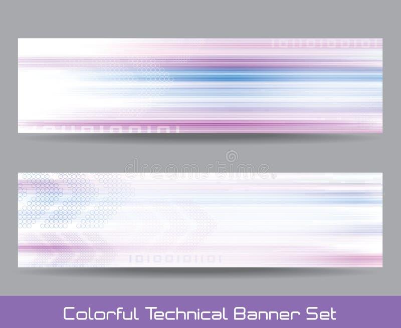 Technical banner set