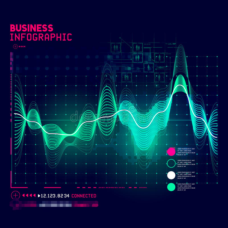 Technical business graph stock illustration