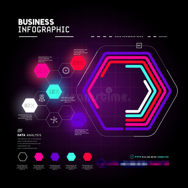 Technical business graph vector illustration