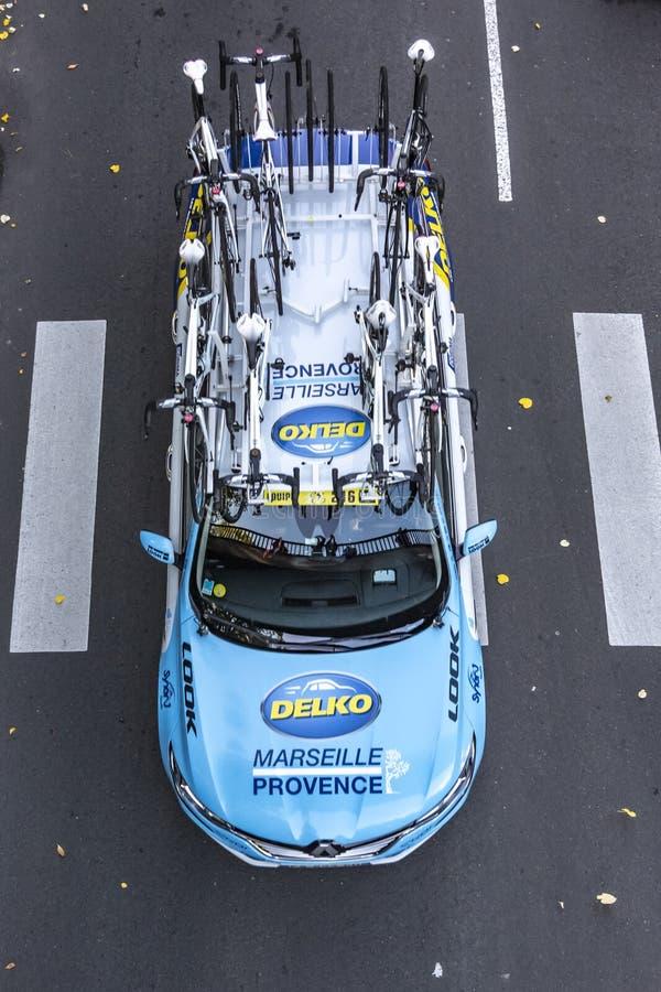 Technical Car of Team Delko-Marseille Provence - Paris-Tours 2019 stock photo