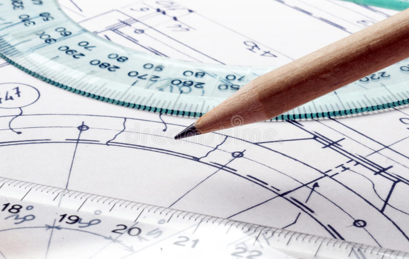 Download Technical drawing stock image. Image of graphics, profession - 18596203