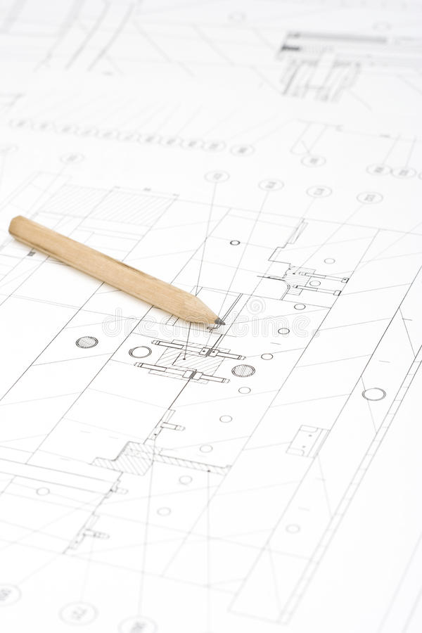 Technical Drawing Royalty Free Stock Photo