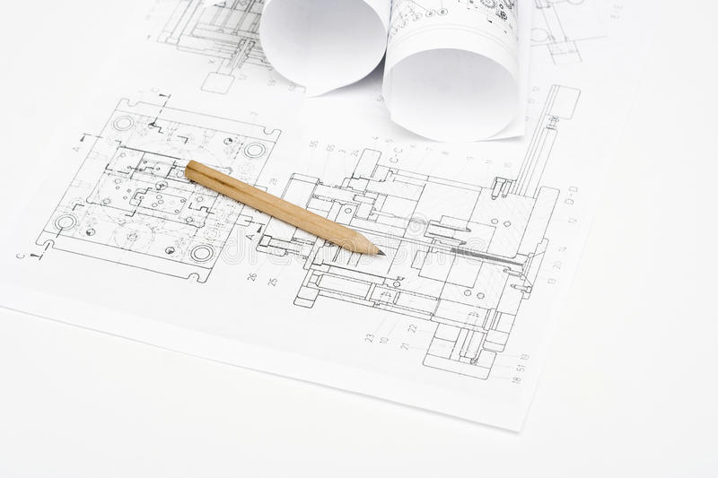Download Technical Drawing stock image. Image of engineering, industry - 28987063