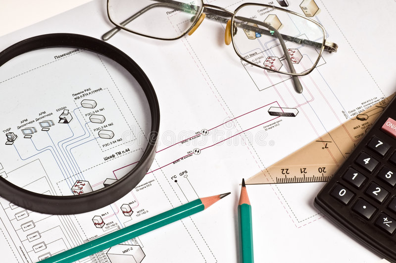 Download Technical drawing stock image. Image of printout, building - 6235493