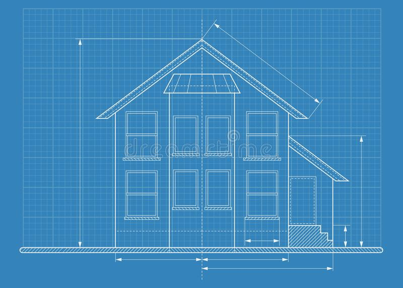 Technical drawing house blueprint stock vector illustration of download technical drawing house blueprint stock vector illustration of concept paper 74585341 malvernweather Image collections