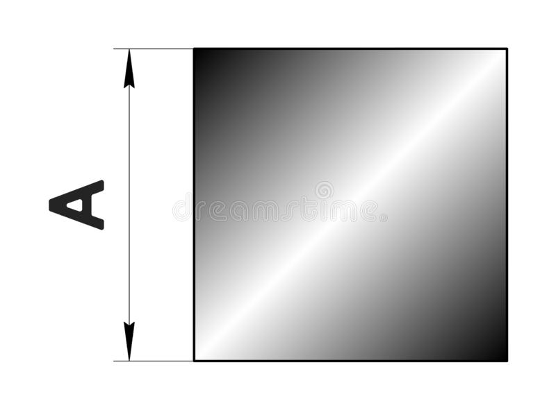 Technical drawing rolled metal.Steel circle profile. Image for web site. Illustration. stock illustration