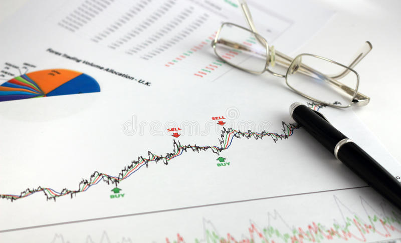 Technical and fundamental analysis royalty free stock image