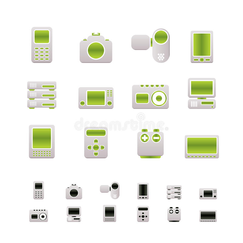 Download Technical, Media And Electronics Icons Stock Vector - Illustration: 13618994